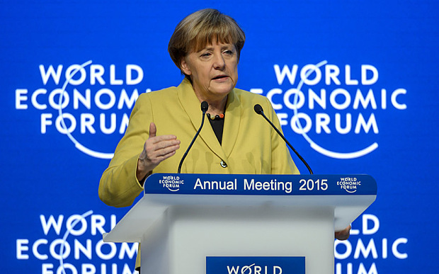German Chancellor Angela Merkel attends